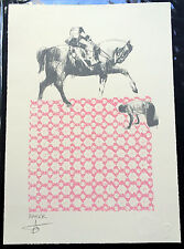 "CHARMING BAKER sérigraphie ""HORSEMAN"" signée /jealous gallery-banksy/eelus/pobel"