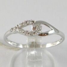 ANILLO DE ORO BLANCO 750 18 CT, ABRAZO INFINITO CON ZIRCONIA, MADE IN ITALY