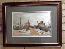 Original Watercolour Painting Bobbingworth Mill Landscape 43x27cm