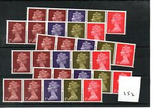 GB - MACHIN  (152) - BOOKLET & /or COIL STAMPS -  selection - mint