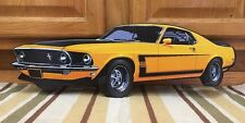 FORD MUSTANG BOSS 302 Embossed Metal Shelby Cobra Mach Man Cave Garage Shop