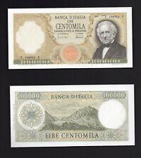 Riproduzione Banconota 100000 lire  Manzoni  - 1967/1974 Lire Italiane