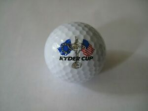 Ryder Cup Logo Golf Ball American & European Flags Trophy Unbranded