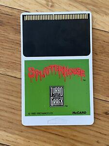 Splatterhouse for TurboGrafx-16, HuCard / Cartridge Only, Tested!