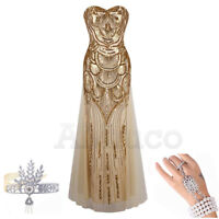 1920s Flapper Dress Gatsby Evening Dresses Cocktail Wedding Bridesmaid Prom Gown