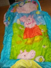 My First Ready Bed - Peppa Pig pink toddler sleeping bag/air bed in one