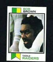 NM 1973 Topps #160 Bob Brown RC HOF.