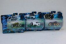 Disney Tron Legacy Lot Of 3 Clu's, Flynn's, Sam's Light Cycle NEW  AS PICTURE