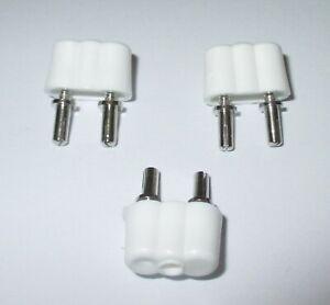 Kahlert Stecker für Puppenhaus-Krippenbeleuchtung weiß   3 Stück  *NEU*