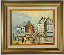 Caroline BURNETT, Original Oil on Board, Boulevard de Clichy Paris, Signed Frame
