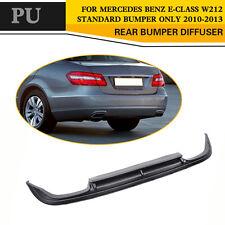PU Car Rear Diffuser Lip Fit for Mercedes E-Class  W212 standard bumper 10-13