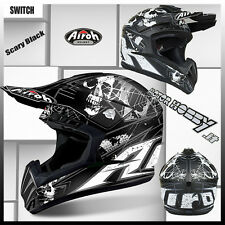 CASCO CROSS ENDURO MOTARD AIROH SWITCH SCARY MATT BLACK 2017 TAGLIA XL (61 - 62)