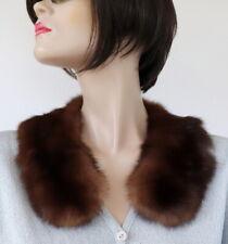 Zobel Bubi Collar Fur Scarf Fur Trim Coat Jacket Luxury Sable Chocolate Braun