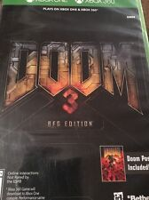 NEW Doom 3 BFG Edition (Microsoft Xbox 360 & ONE, 2016) SEALED with Poster