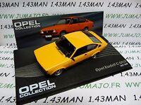 OPE46R car 1/43 IXO OPEL collection : KADETT C rally GT/E 1977/1979 orange
