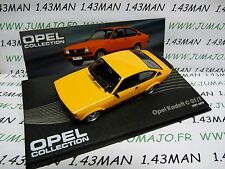 OPE46R voiture 1/43 IXO OPEL collection : KADETT C rallye GT/E 1977/1979 orange