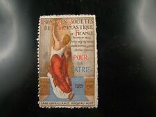 poster stamp cinderella vignette reklamemarken 1914 societe  gymnastique france