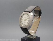 New Old Stock 35,5mm SAVAR 21j vintage MECHANICAL watch NOS FHF 73-4N silver dia