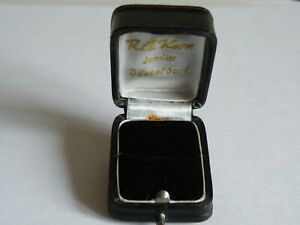 A GOOD VINTAGE ANTIQUE LEATHER COVERED RING BOX R G KERN  DUSSELDORF