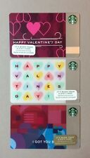 (3) Starbucks VALENTINES DAY Gift Cards (Set of 3) (1)2014 & (2)2015 (NEW)