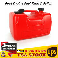 Boat Engine Fuel Tank 3 Gallon Portable Marine Outboard Fuel Tank US STOCK NEW