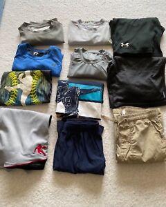 Lot of Boy's Clothes Size 14/16 Under Armour Reebok Fila Tek Gear
