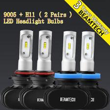 BEAMTECH 9005+H11 LED Headlight Bulbs for GMC Sierra 2500 3500 HD 2007-2014 100W