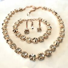 Swarovski crystal elements Jewelry Set 8mm Rose Gold Silk APRIL SPECIAL PRICING