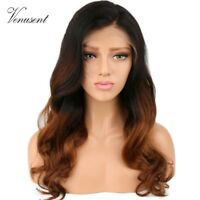Brown Ombre Human Hair Full Lace Wigs Wavy Virgin Brazilian Remy Lace Front Wigs