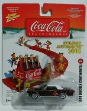 1961 LINCOLN CONTINENTAL #2 JOHNNY LIGHTNING COCA COLA HOLIDAY AUTOMENTS 2005