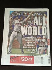 New York Daily News October 22,2015 Mets Win National League Pennant