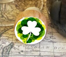 Wine Stopper, Shamrock Handmade Wood Bottle Stopper, St. Patrick's Day