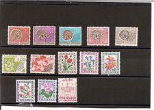 """N°308-lot 13 timbres  7 pré-oblitérés et 6 timbres """"taxe"""" neufs -parfait état"""