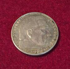Deutsches Reich 2 Reichsmark Silbermünze Hindenburg 1939