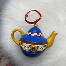 Mary Engelbreit Teapot Christmas Ornament with Sunflowers
