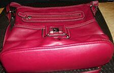 REDUCED! Purse ROSETTI Shoulder Handbag Red Zipper & Open Outside Pocket Zipper