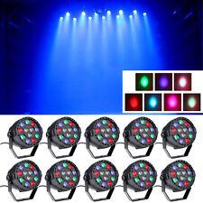 10PCS 12W RGBW 12x LED Par Stage Light DMX DJ Disco Party Effect Wash Lighting