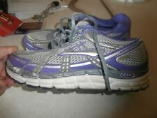 Brooks Addiction Womens 8 w euro 39  Gray Purple Lace Up Athletic Sneakers wide