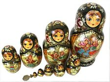 Unique Russian Nesting Doll - Russian Winter- Artist Signed