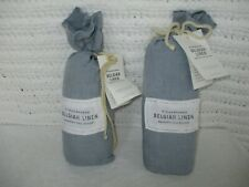 Restoration Hardware Stonewashed Belgian Linen Euro Lumbar Sham Set of (2) NEW!