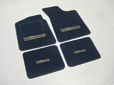 Navy Blue Car Mats - Renault Clio Williams LHD (1991-98) + Large Williams Logos