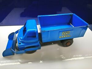 Vintage Wyn Toy Sand and Gravel tip truck with scoop