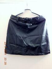 Femme Mesdames Crayon Taille Haute Aspect Mouillé Faux cuir Midi Jupe de Patineuse