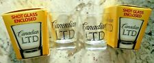 2 Canadian LTD Whiskey Shot Glasses  New with Box