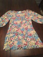 Sweet Pea Floral Pleated Shirt Medium