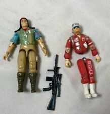 Vintage G.I. JOE Spirit Indian Figure 1984 Hasbro & Rescue 1988, READ Cond Descp