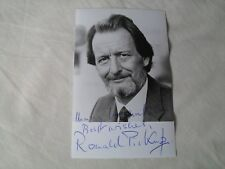 RONALD PICKUP - autographed photo signed by Ronald Pickup JAMES BOND, DR WHO etc