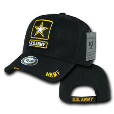 US Military Baseball Caps Ball Hat Legend Collection Army Star Gold/Black S001