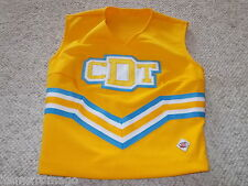 Cdt Yellow Gold, White, & Light Blue Cheerleading Uniform Top 30""