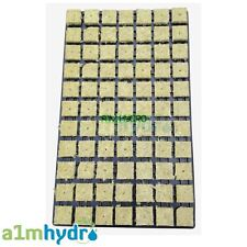 Grodan 36mm SBS Rockwool Propagation Grow Cubes Tray Of 77 Starter Hydroponics